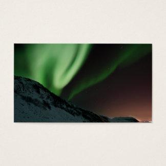 Cartão De Visitas Aurora boreal Noruega da Aurora