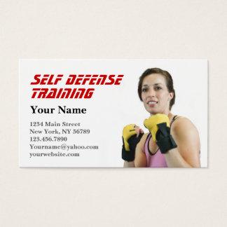 Cartão De Visitas Autodefesa pessoal do instrutor