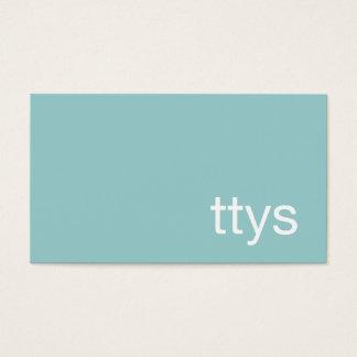 Cartão De Visitas Azul de turquesa de Minimalistic dos trabalhos em