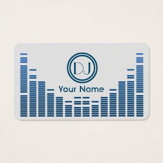 Cartão De Visitas Azul do jogo da música do equalizador do DJ