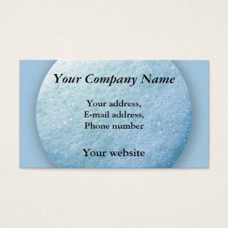Cartão De Visitas Azul do ponto 1260C das bolhas de sabão