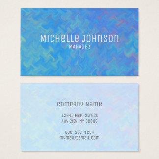 Cartão De Visitas Azul elegante que marmoreia o olhar profissional