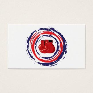 Cartão De Visitas Azul vermelho e branco de encaixotamento