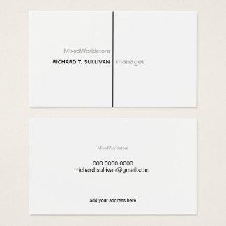 Cartão De Visitas B/w elegante & moderno do gerente de empresa