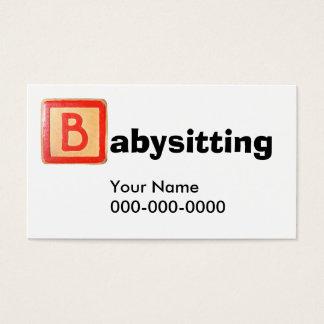 Cartão De Visitas Babysitting