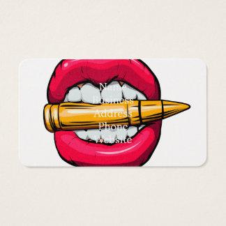 Cartão De Visitas bala na boca