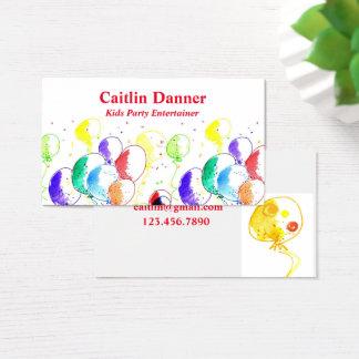 Cartão De Visitas Balões do partido da aguarela