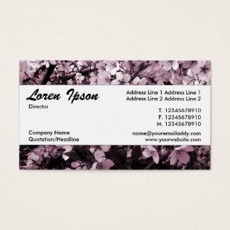 Cartão De Visitas Banda Center 035 - flor de cerejeira