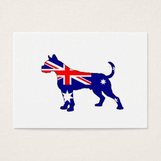Cartão De Visitas Bandeira australiana - pugilista