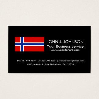 Cartão De Visitas Bandeira de Noruega