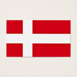 Cartão De Visitas Bandeira dinamarquesa