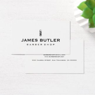 Cartão De Visitas Barbearia minimalista