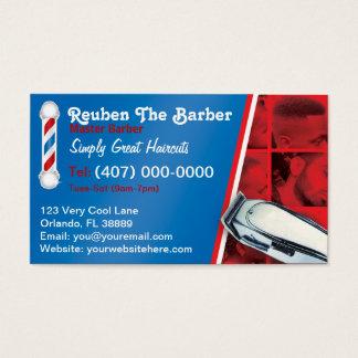 Cartão De Visitas Barbeiro do barbeiro (pólo e tosquiadeiras do