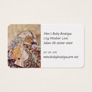 Cartão De Visitas Bebê na edredão brilhantemente colorida