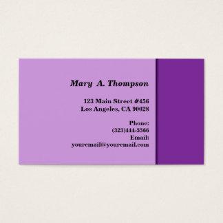 Cartão De Visitas beira lateral roxa brilhante