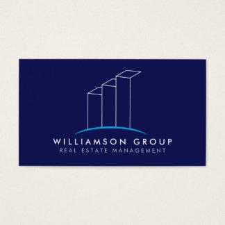 Cartão De Visitas Bens imobiliários, arquiteto, logotipo de
