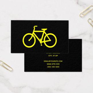 Cartão De Visitas Bicicleta preta e amarela