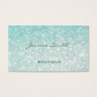 Cartão De Visitas Bokeh liso elegante moderno glamoroso profissional