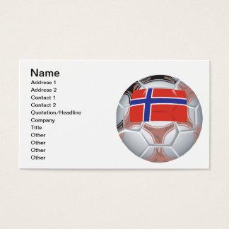 Cartão De Visitas Bola de futebol norueguesa
