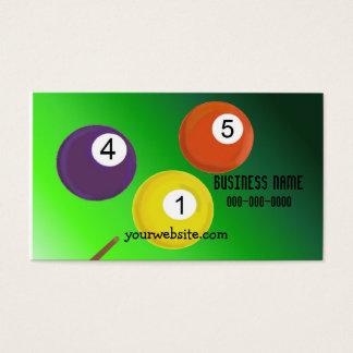 Cartão De Visitas Bolas de bilhar