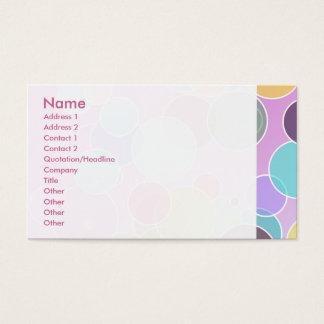 Cartão De Visitas Bolhas coloridas