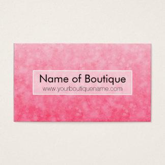 Cartão De Visitas Boutique cor-de-rosa moderno Bokeh chique macio da