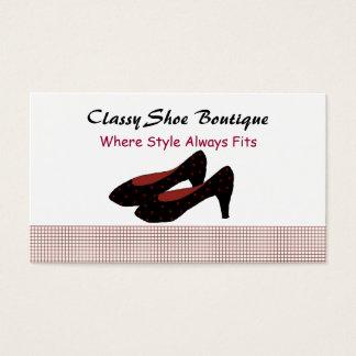 Cartão De Visitas Boutique elegante dos saltos