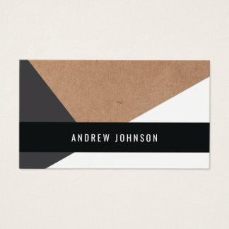 Cartão De Visitas Branco cinzento impresso moderno de papel de