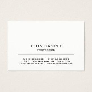 Cartão De Visitas Branco moderno profissional e cinzento