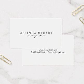 Cartão De Visitas Branco moderno simples profissional