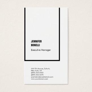 Cartão De Visitas Branco preto moderno minimalista liso profissional