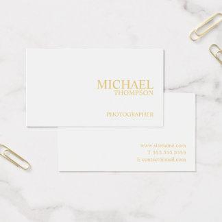 Cartão De Visitas Branco profissional e ouro