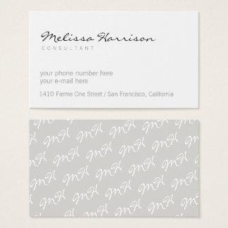 Cartão De Visitas branco profissional moderno minimalista básico