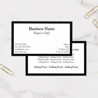 Cartão De Visitas Branco quadro