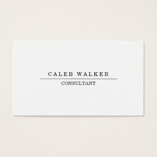 Cartão De Visitas Branco simples liso profissional elegante criativo