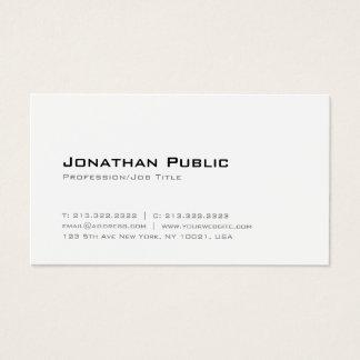 Cartão De Visitas Brancos elegantes modernos alisam o profissional