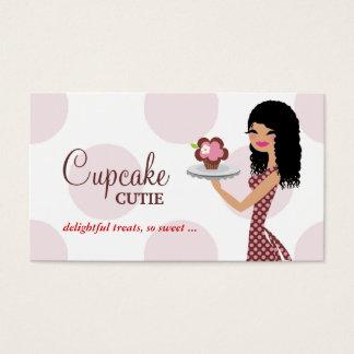 Cartão De Visitas Cabelo encaracolado cor-de-rosa de Cutie do