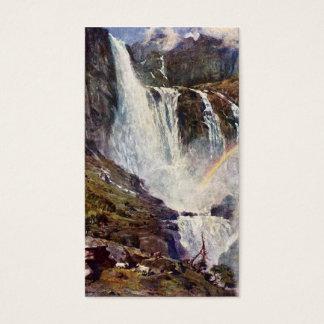 Cartão De Visitas Cachoeira norueguesa