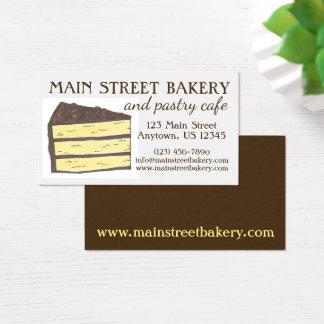 Cartão De Visitas Café do cozinheiro chefe de pastelaria do padeiro