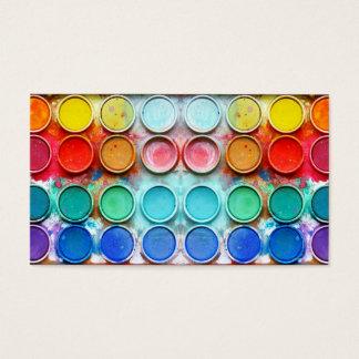 Cartão De Visitas Caixa de cor da pintura do divertimento