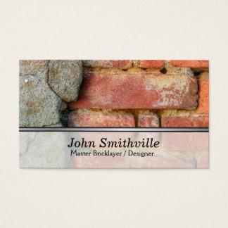 Cartão De Visitas Camada e desenhista de tijolo mestra