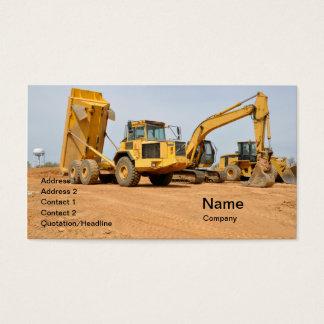 Cartão De Visitas camião basculante e backhoe