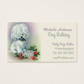 Cartão De Visitas Caminhante e veterinário do cão