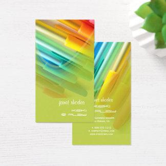 Cartão De Visitas Canetas coloridas/desenhista