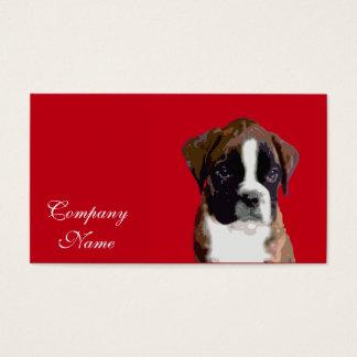 Cartão De Visitas Cão de filhote de cachorro do pugilista