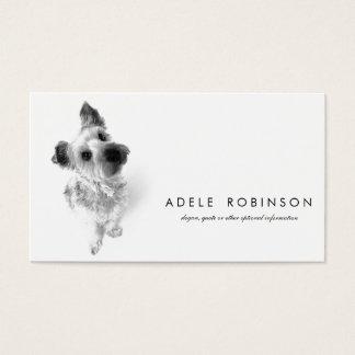 Cartão De Visitas Cão de filhote de cachorro doce bonito de Yorkie