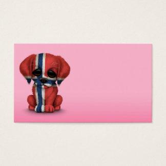 Cartão De Visitas Cão de filhote de cachorro norueguês patriótico