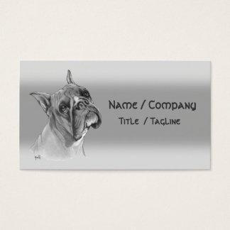 Cartão De Visitas Cão do pugilista