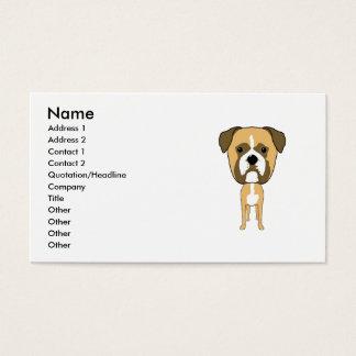 Cartão De Visitas Cão do pugilista. Cabeça desproporcionado