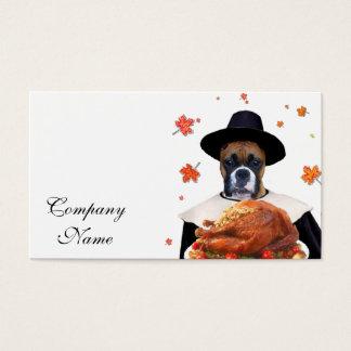 Cartão De Visitas Cão do pugilista da acção de graças